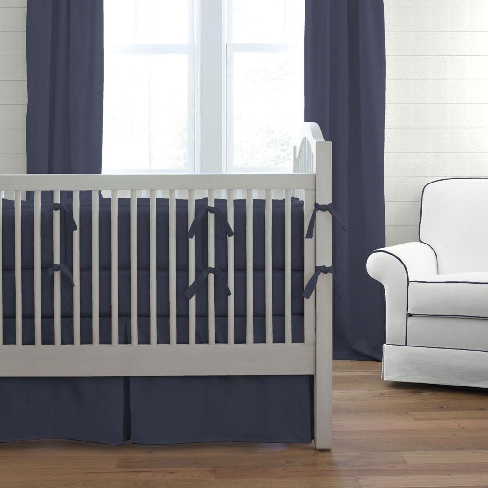 Product image for Solid Navy Crib Bumper