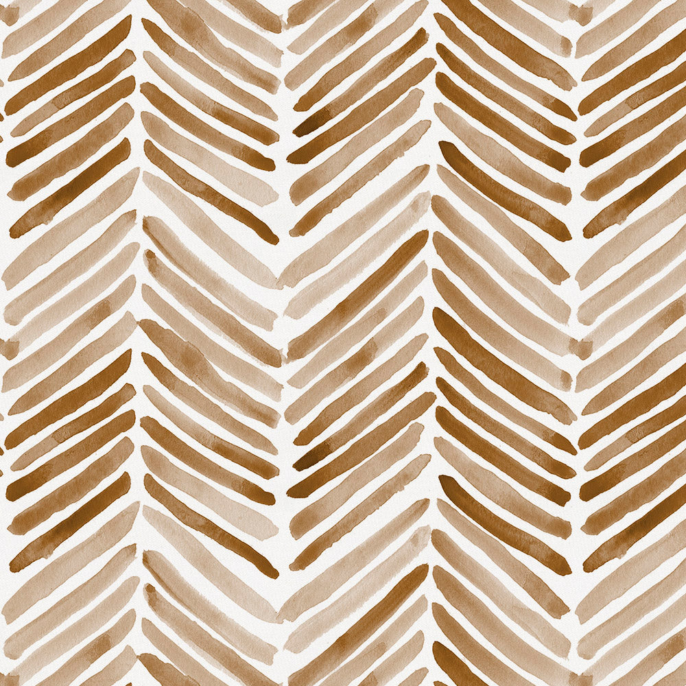 Product image for Caramel Painted Chevron Drape Panel