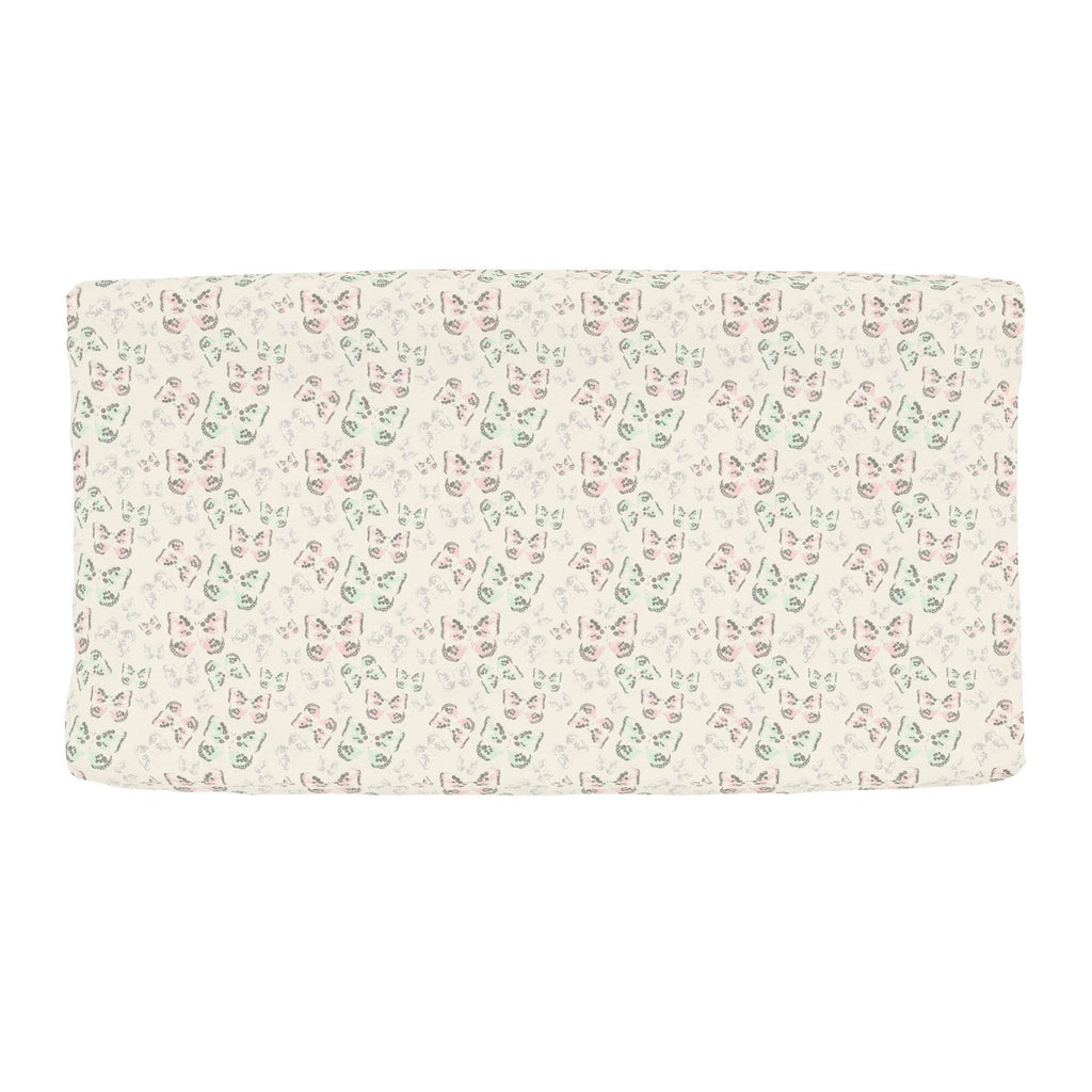 Product image for Blush and Ivory Butterfly Changing Pad Cover