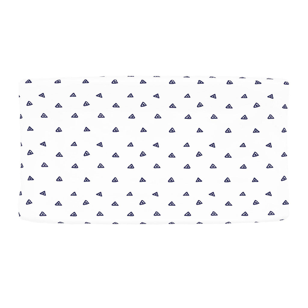 Product image for Navy Triangle Dots Changing Pad Cover