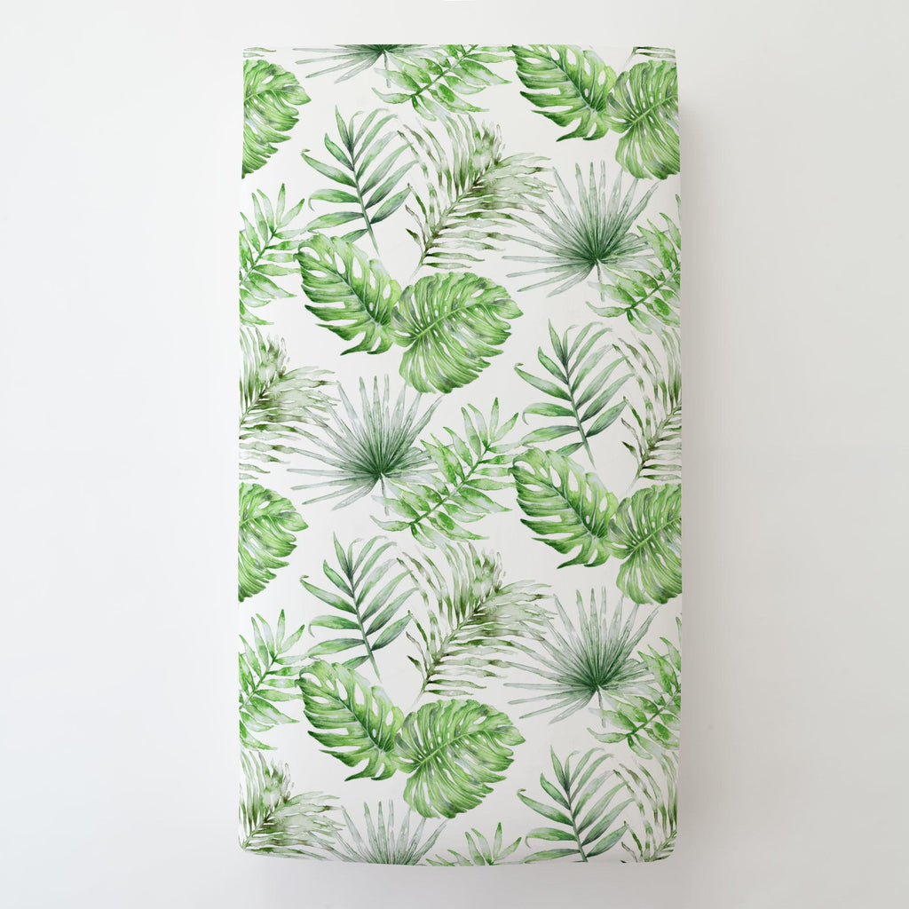 Product image for Green Painted Tropical Toddler Sheet Bottom Fitted