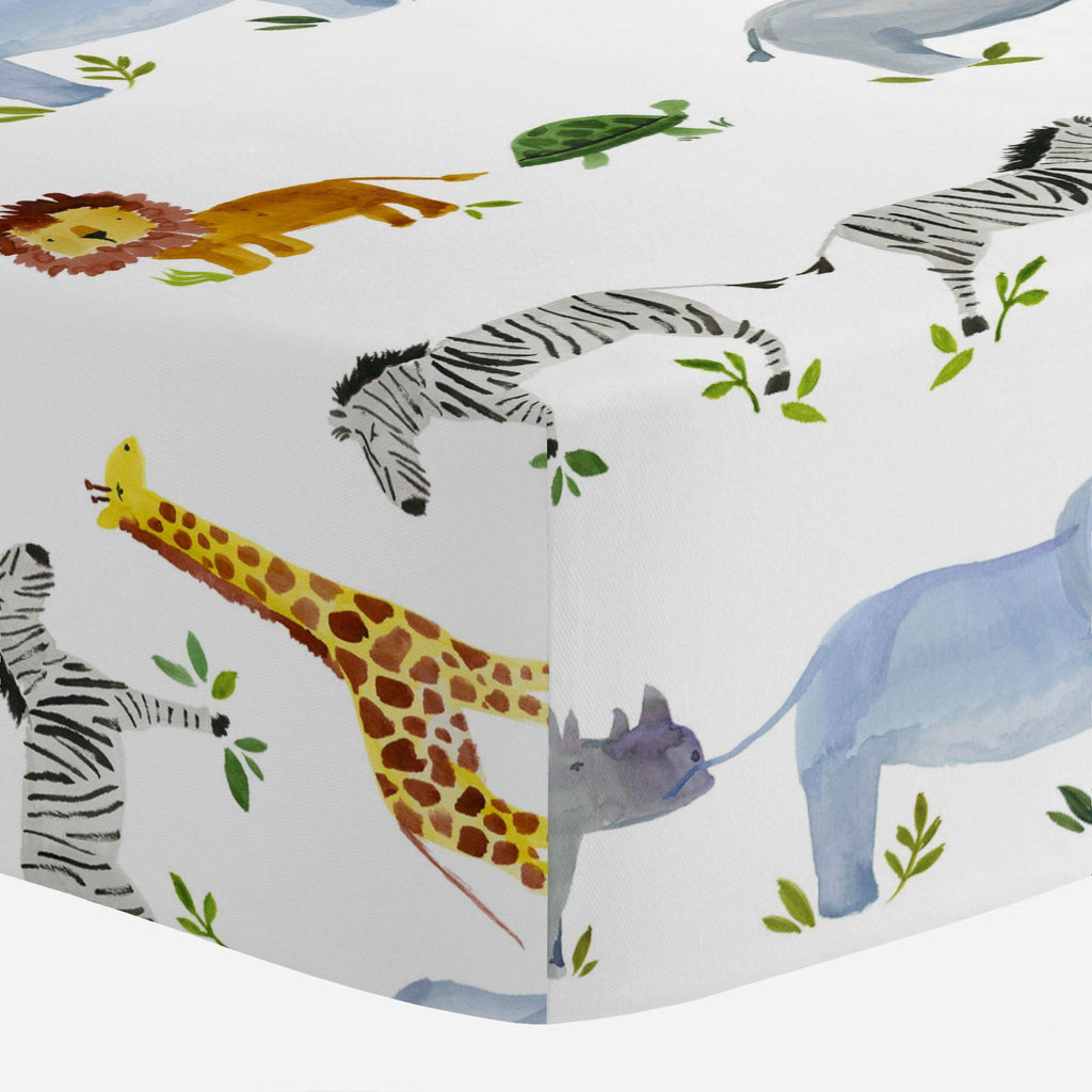 Product image for Painted Zoo Mini Crib Sheet