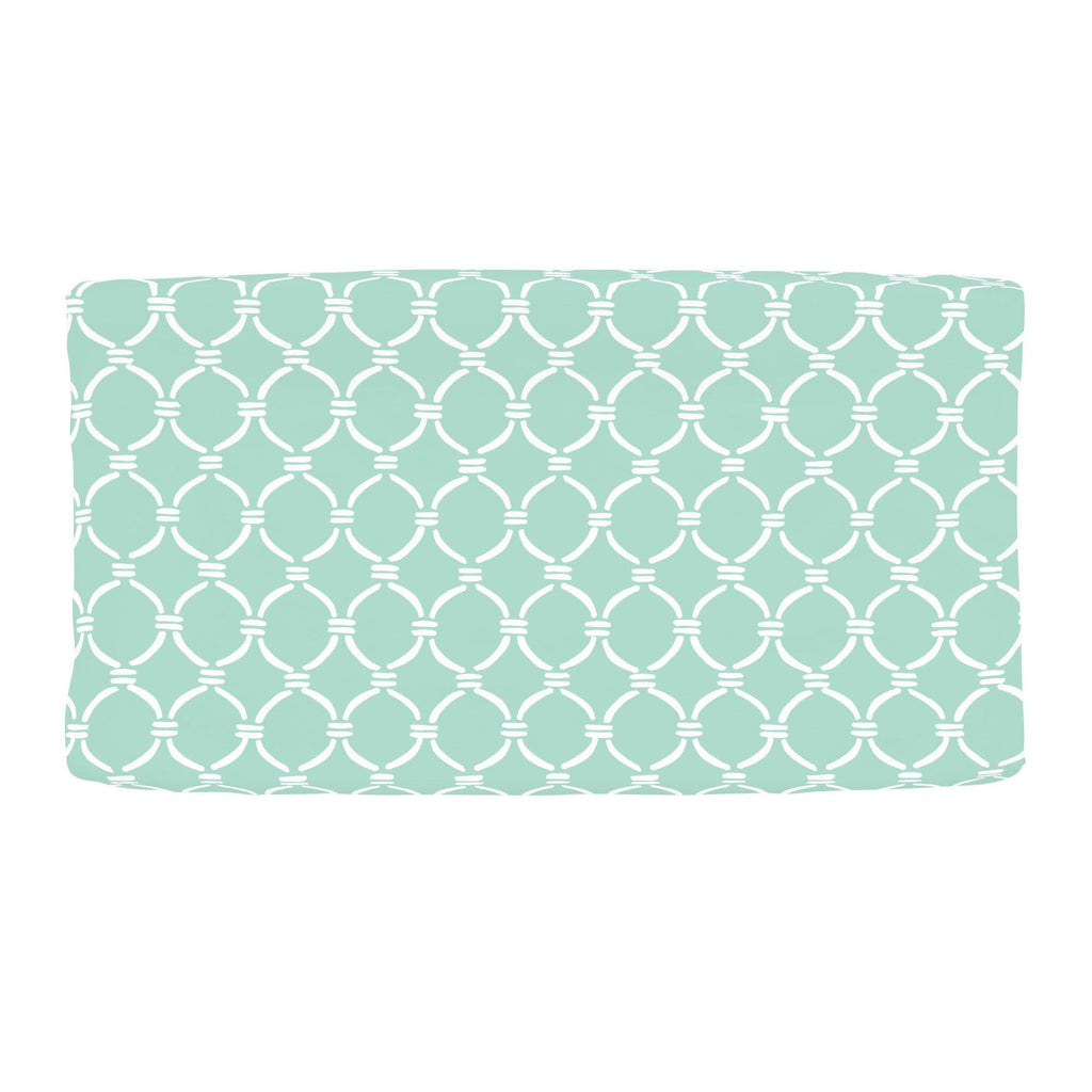 Product image for Mint and White Lattice Circles Changing Pad Cover