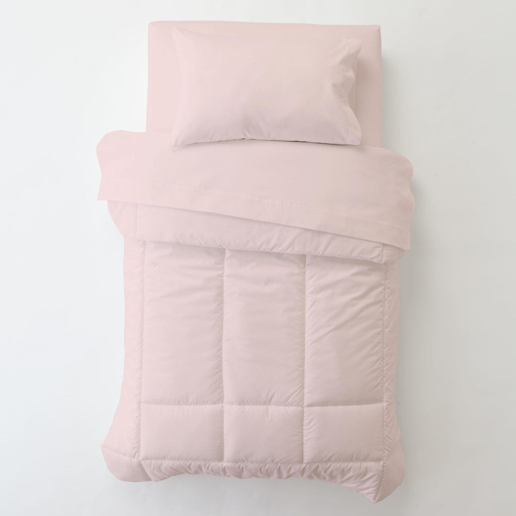 Product image for Solid Pink Toddler Pillow Case with Pillow Insert
