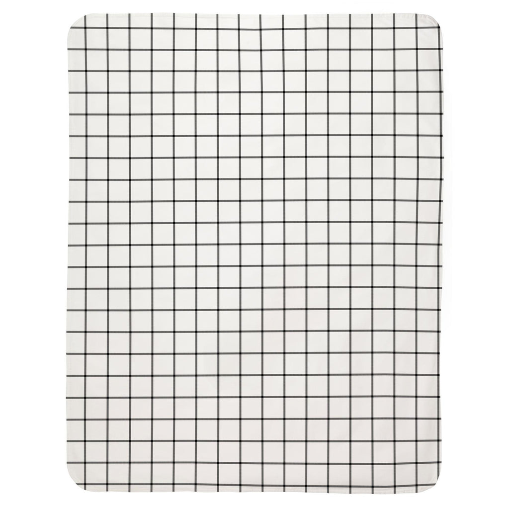 Product image for Onyx Windowpane Baby Blanket