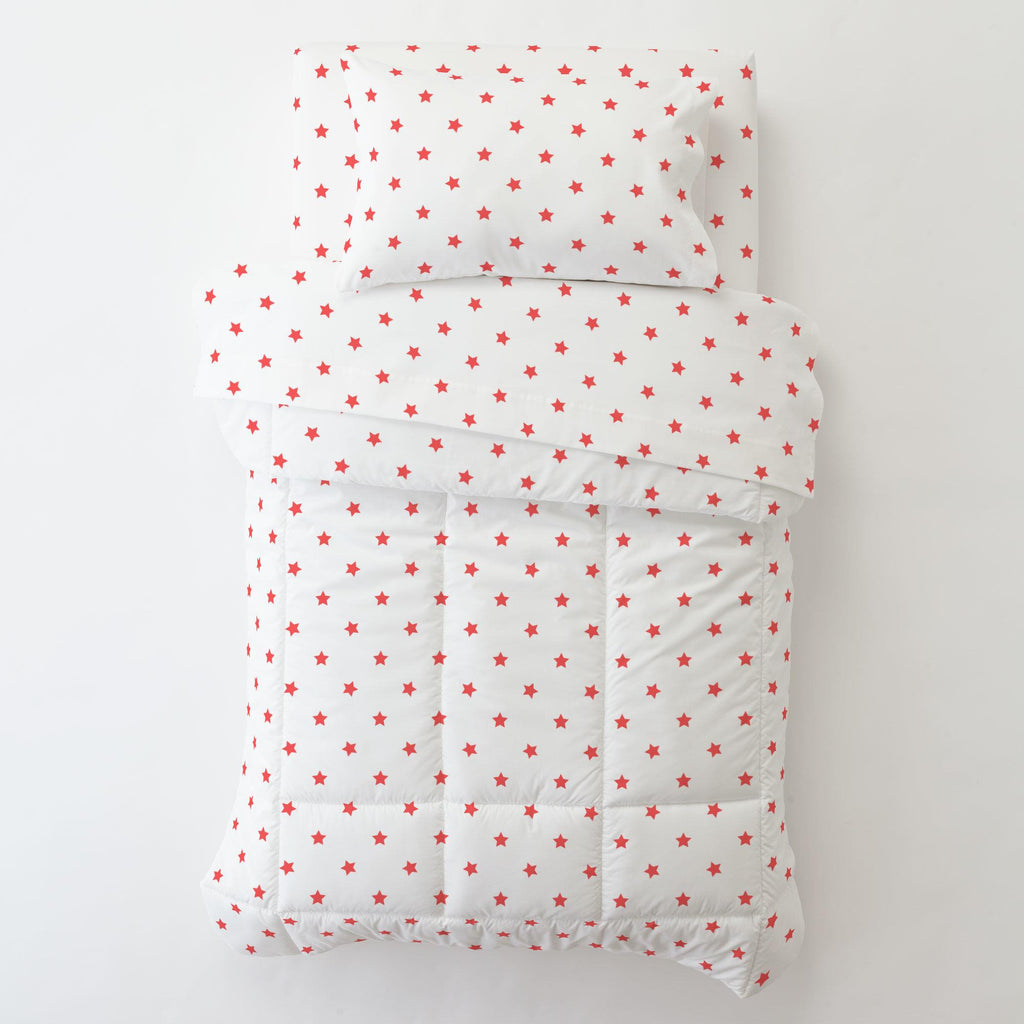 Product image for Coral Stars Toddler Pillow Case with Pillow Insert