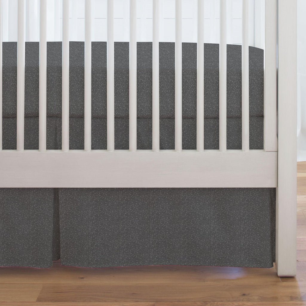 Product image for Dark Gray Heather Crib Skirt Single-Pleat