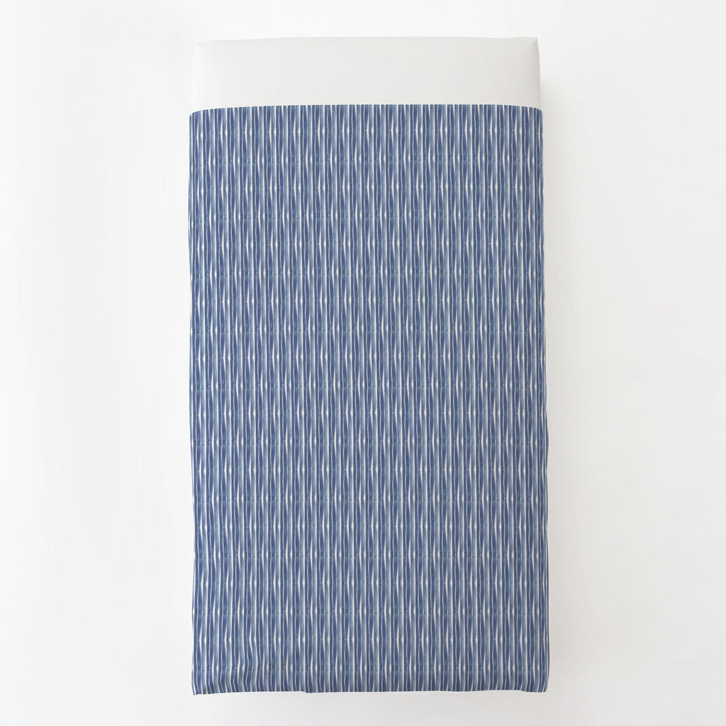 Product image for Blue Ocean Stripe Toddler Sheet Top Flat