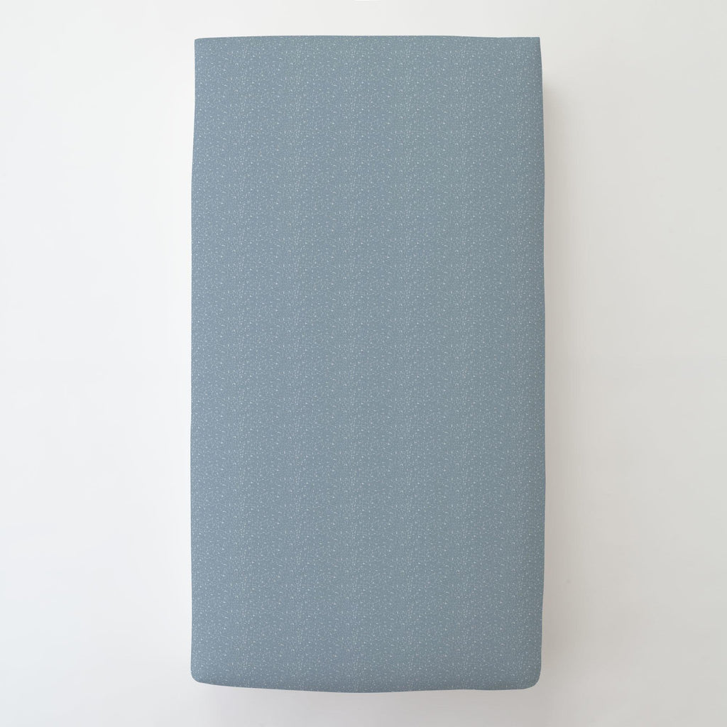 Product image for Steel Blue Heather Toddler Sheet Bottom Fitted