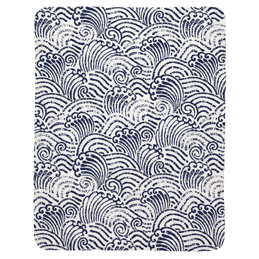 Product image for Navy Seas Baby Blanket
