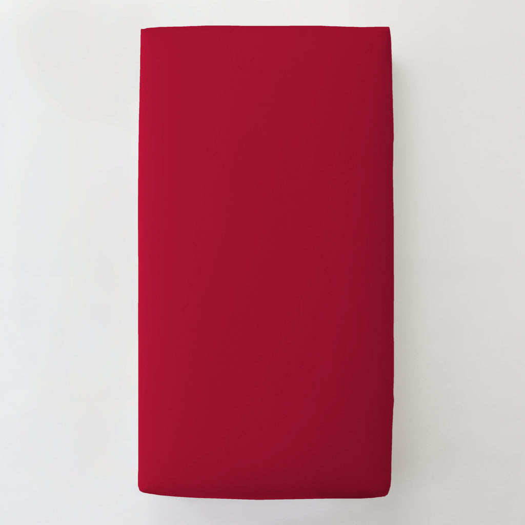 Product image for Solid Red Toddler Sheet Bottom Fitted