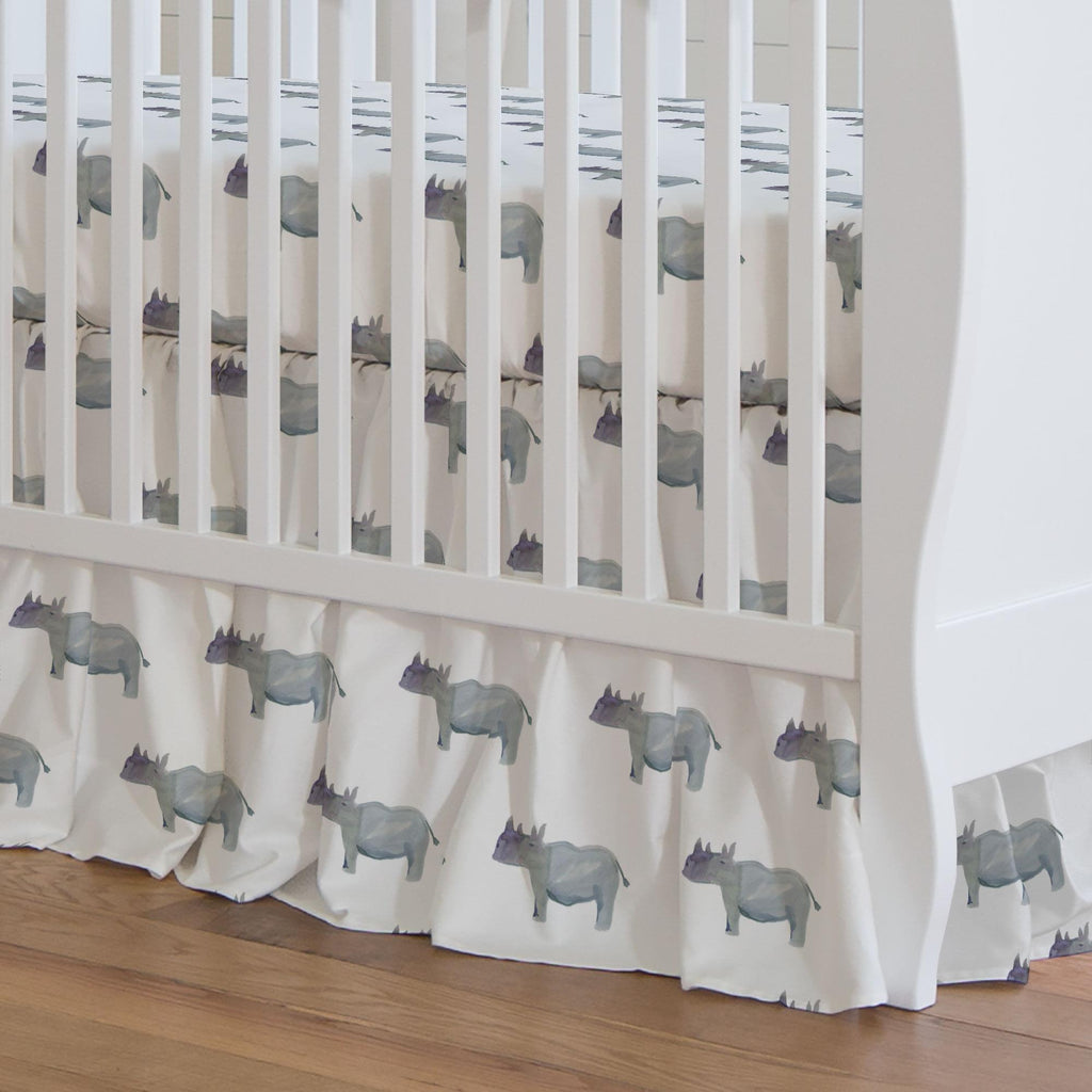 Product image for Painted Rhino Crib Skirt Gathered