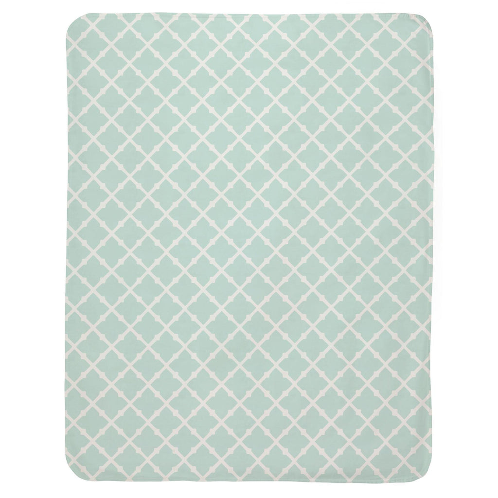 Product image for Icy Mint Lattice Baby Blanket