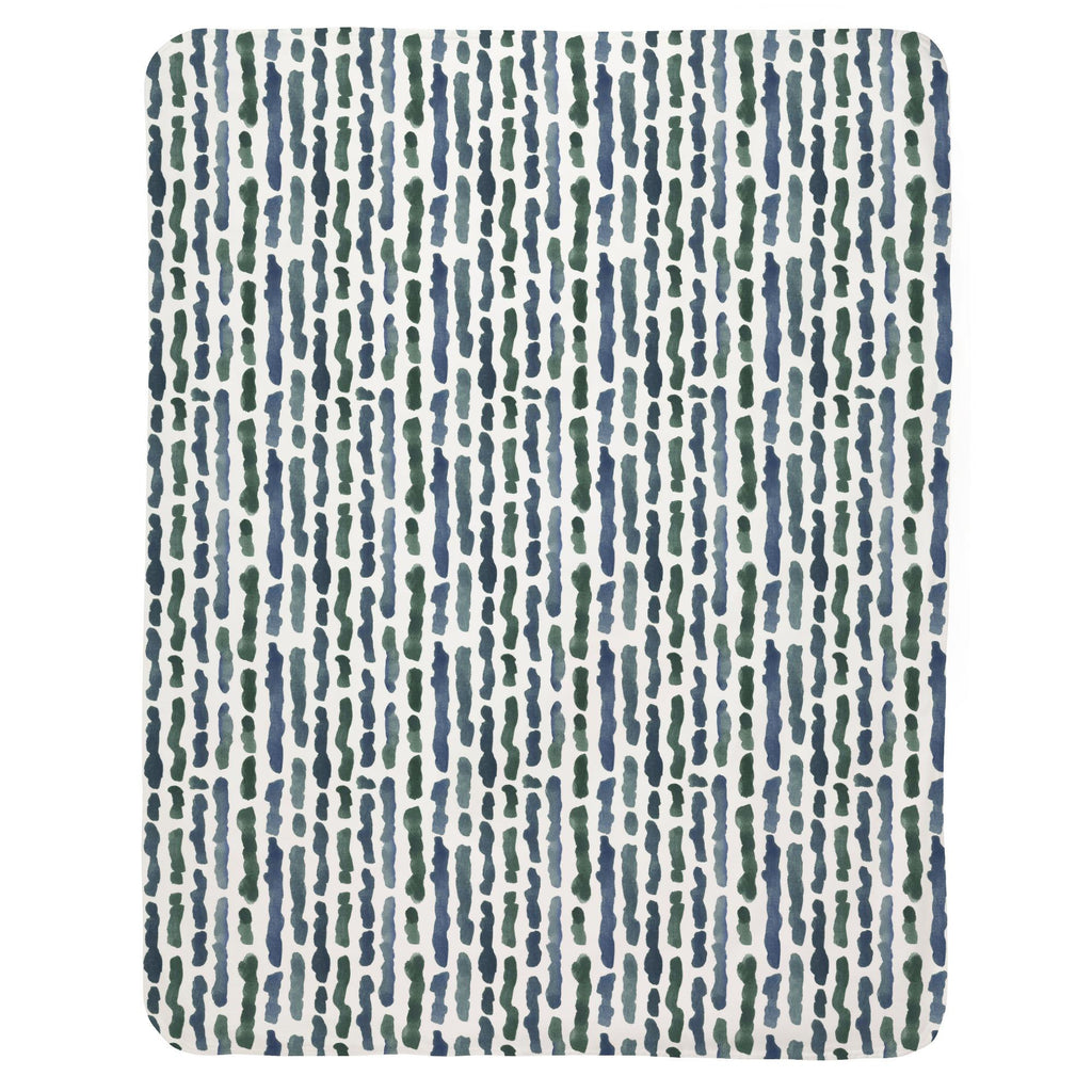 Product image for Sea Green Stripe Baby Blanket