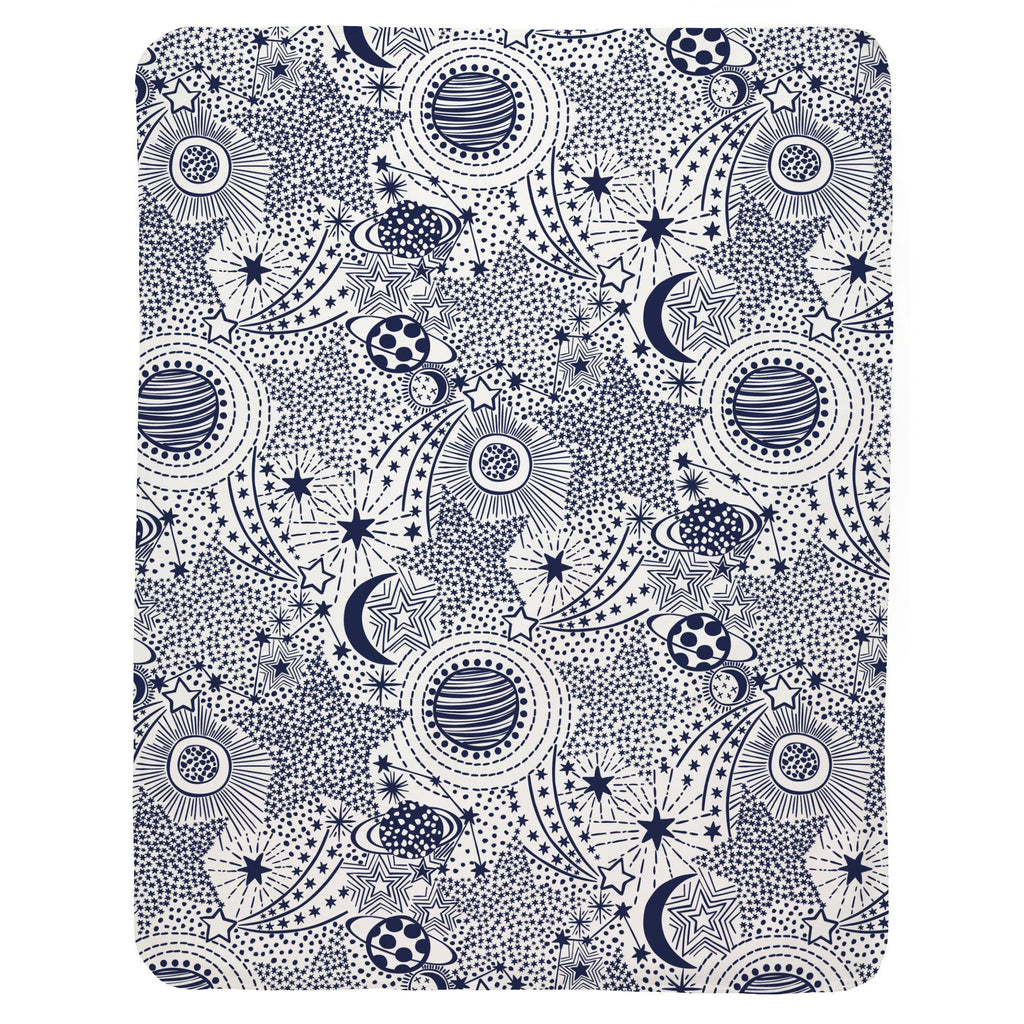 Product image for Navy Galaxy Baby Blanket