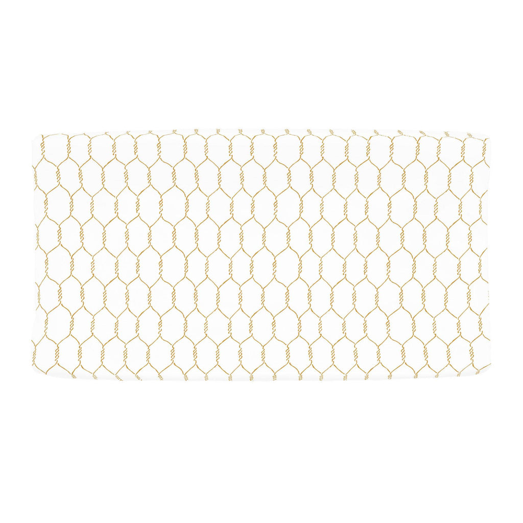 Product image for Mustard Farmhouse Wire Changing Pad Cover