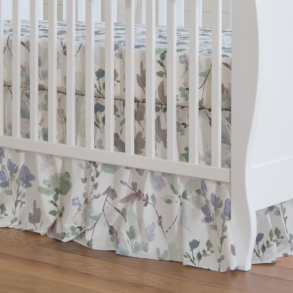 Product image for Soft Wildflower Crib Skirt Gathered