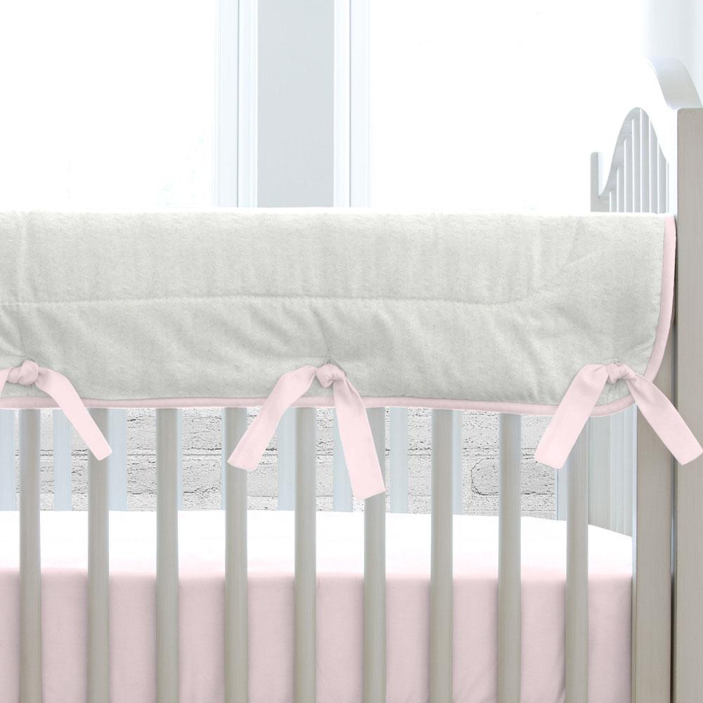 Product image for Gray Filigree Crib Rail Cover