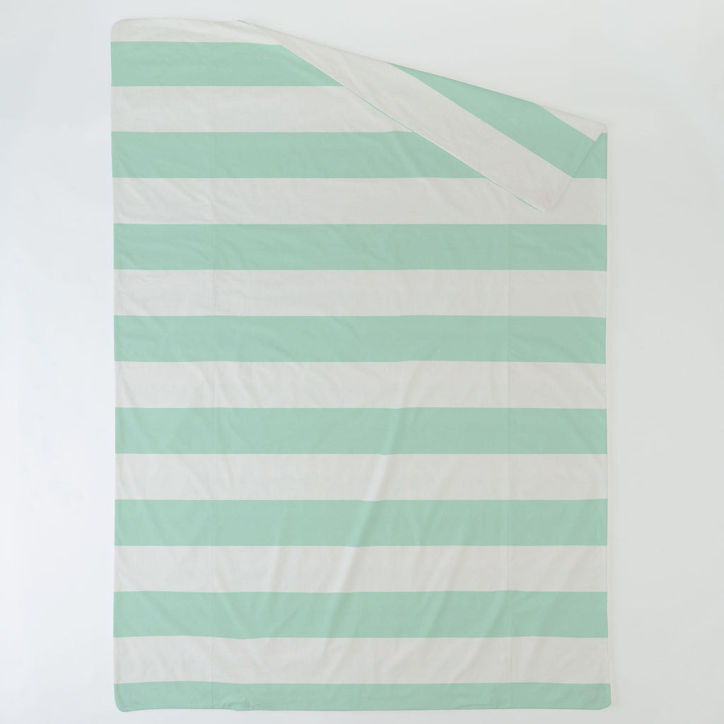 Product image for Icy Mint Horizontal Stripe Duvet Cover