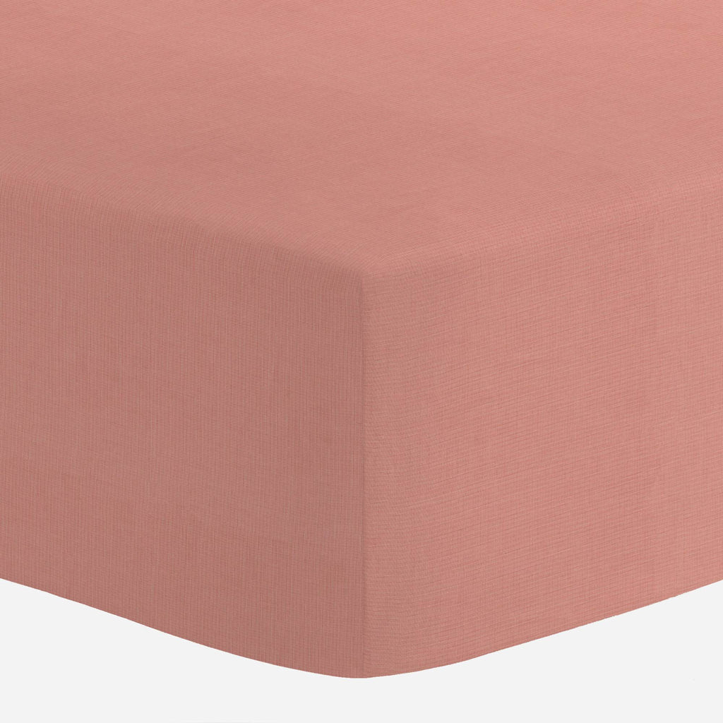 Product image for Solid Light Coral Mini Crib Sheet