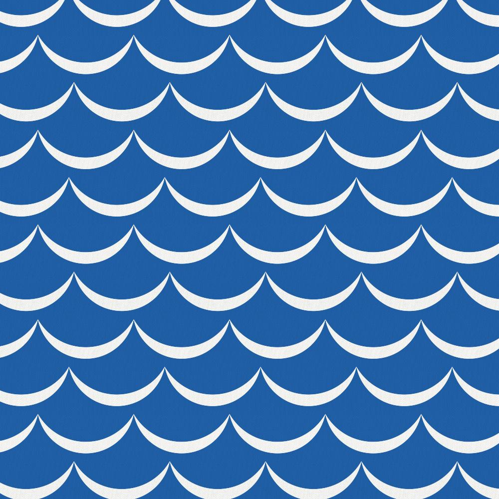 Product image for Ocean Blue Waves Drape Panel