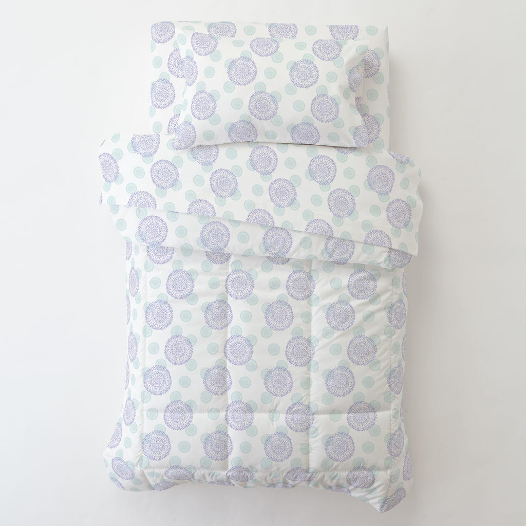 Product image for Lilac and Mist Dandelion Toddler Pillow Case with Pillow Insert