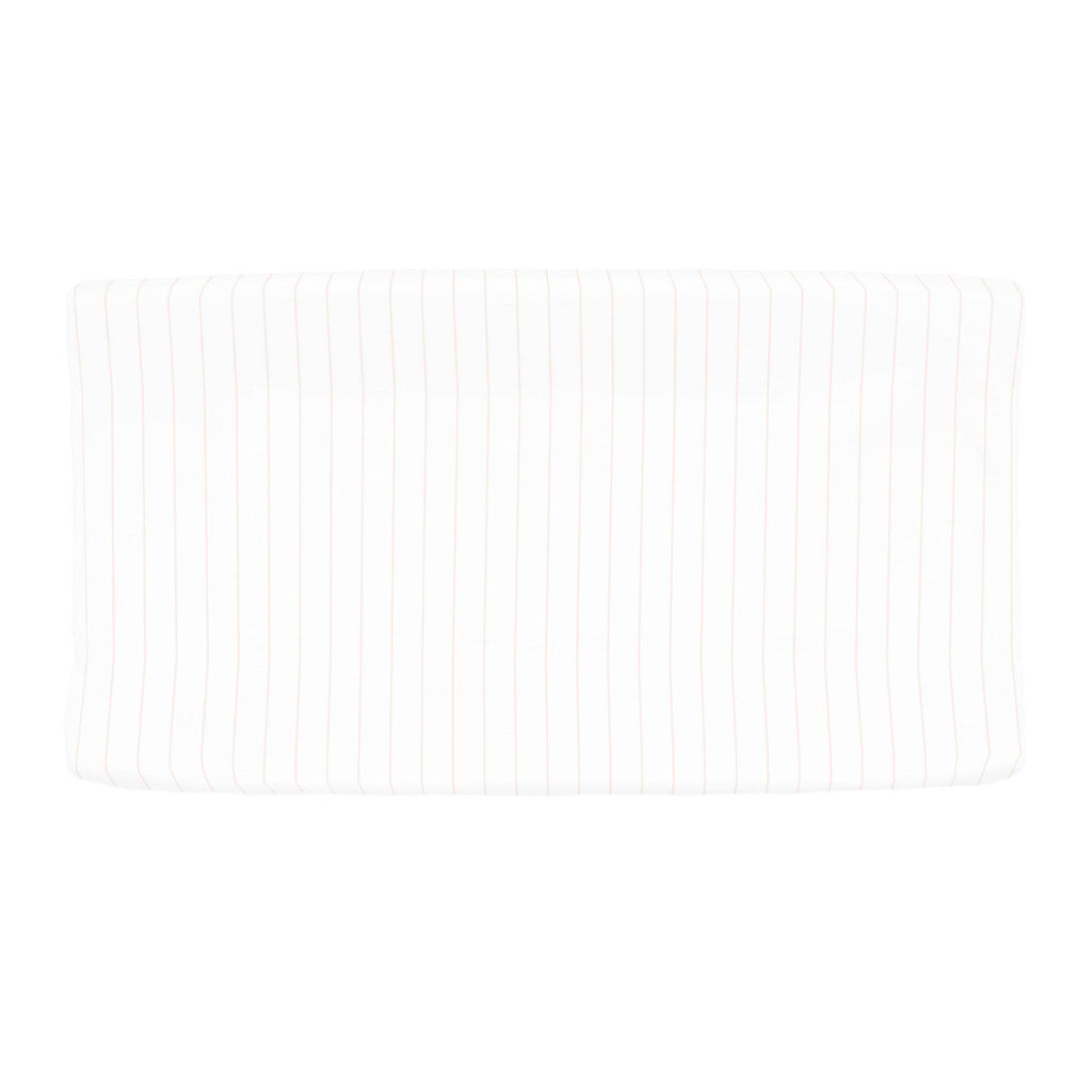 Product image for Pale Pink Pinstripe Changing Pad Cover
