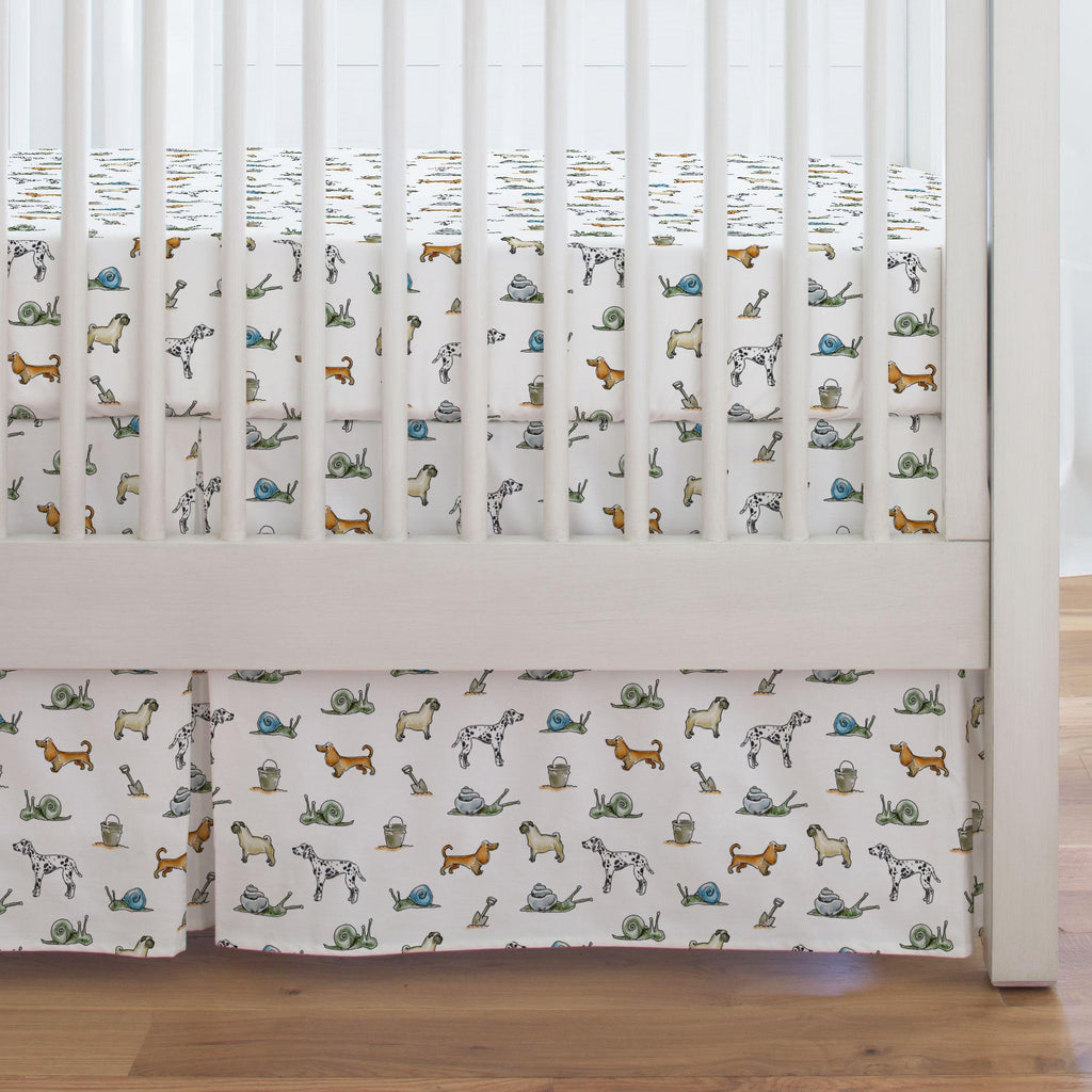 Product image for Snails and Tails Crib Skirt Single-Pleat