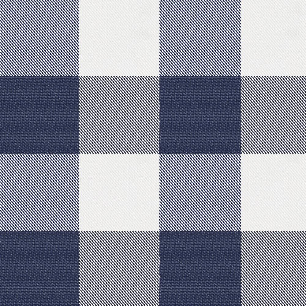 Product image for Navy and White Buffalo Check Drape Panel