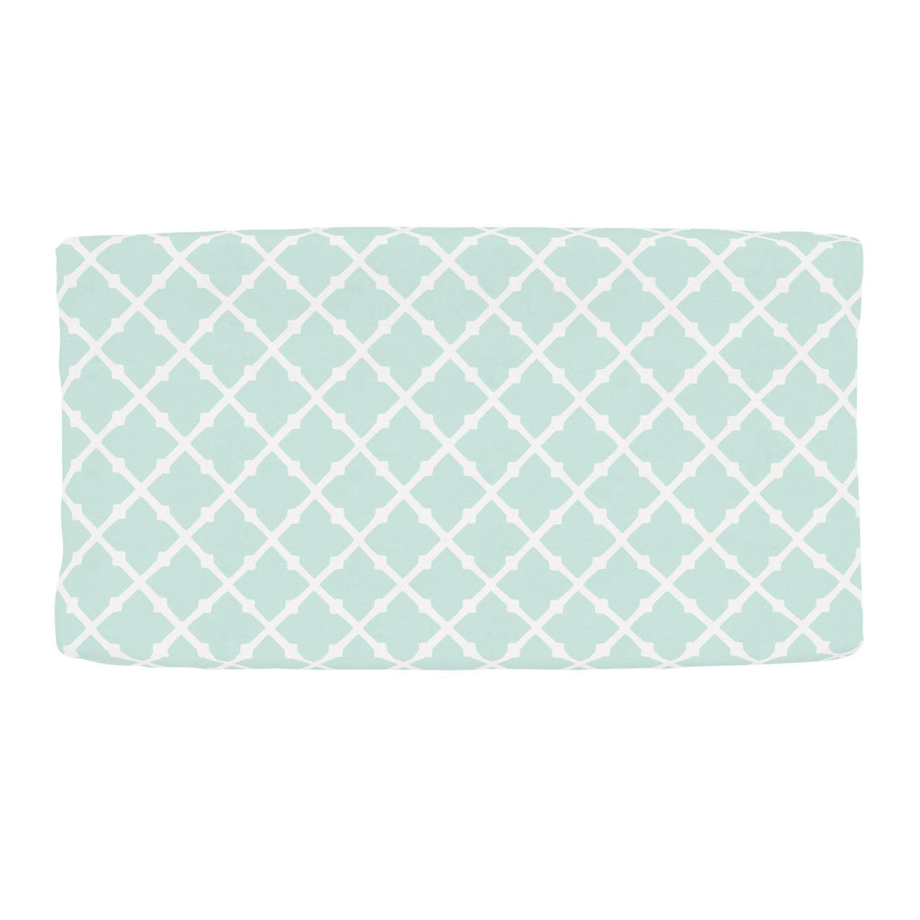 Product image for Icy Mint Lattice Changing Pad Cover