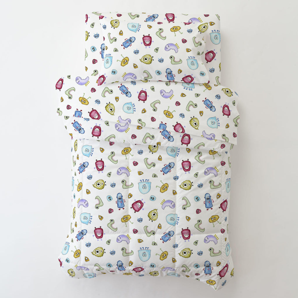 Product image for Watercolor Monsters Toddler Pillow Case with Pillow Insert