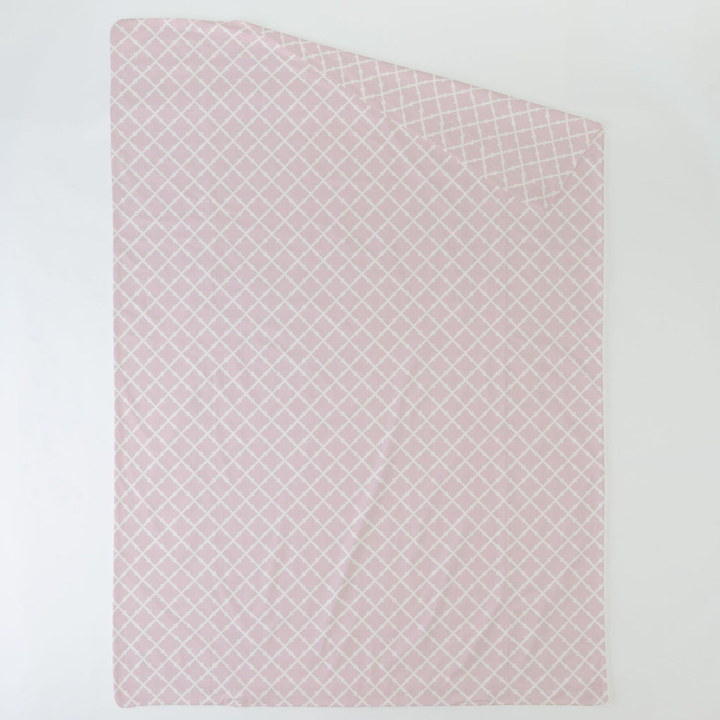 Product image for Pink Lattice Duvet Cover