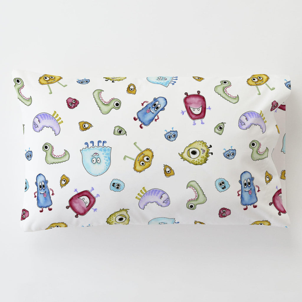 Product image for Watercolor Monsters Toddler Pillow Case
