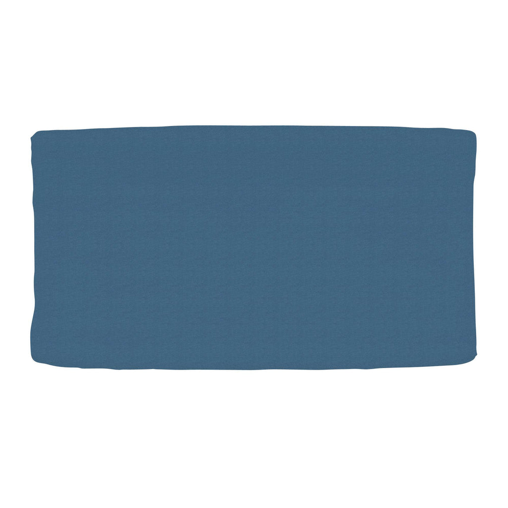 Product image for Solid Denim Blue Changing Pad Cover