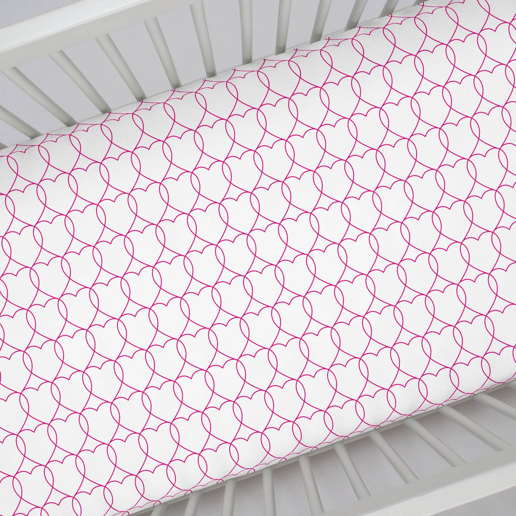 Product image for Fuchsia Sweetheart Crib Sheet