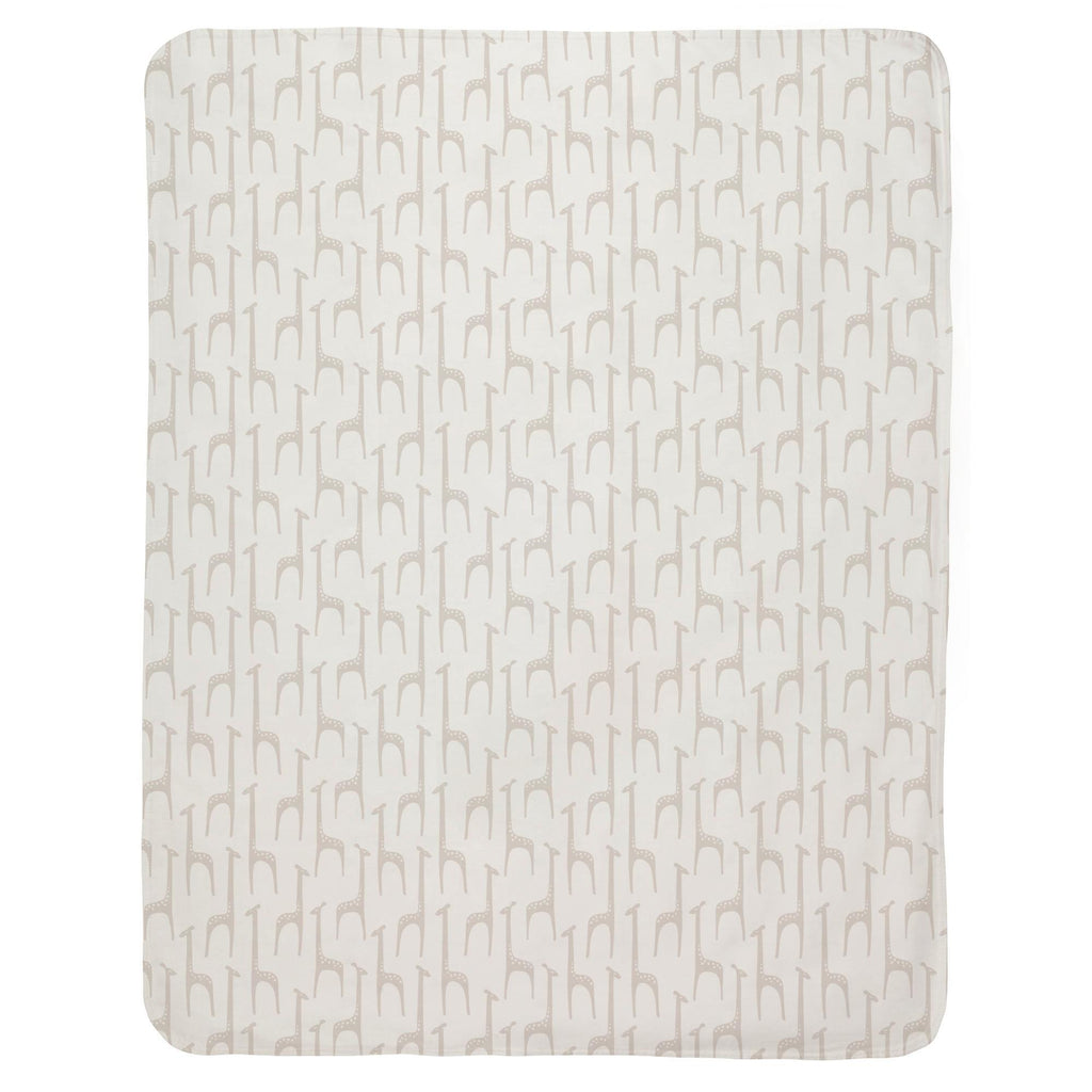 Product image for Taupe Baby Giraffe Baby Blanket