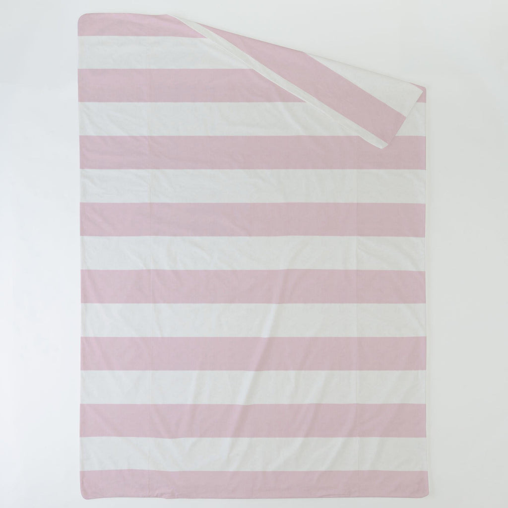 Product image for Pink Horizontal Stripe Duvet Cover