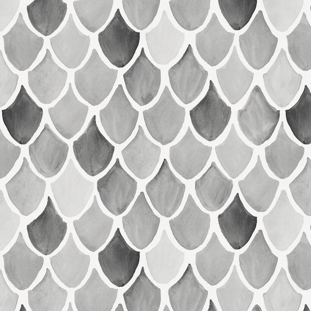 Product image for Gray Watercolor Scales Drape Panel