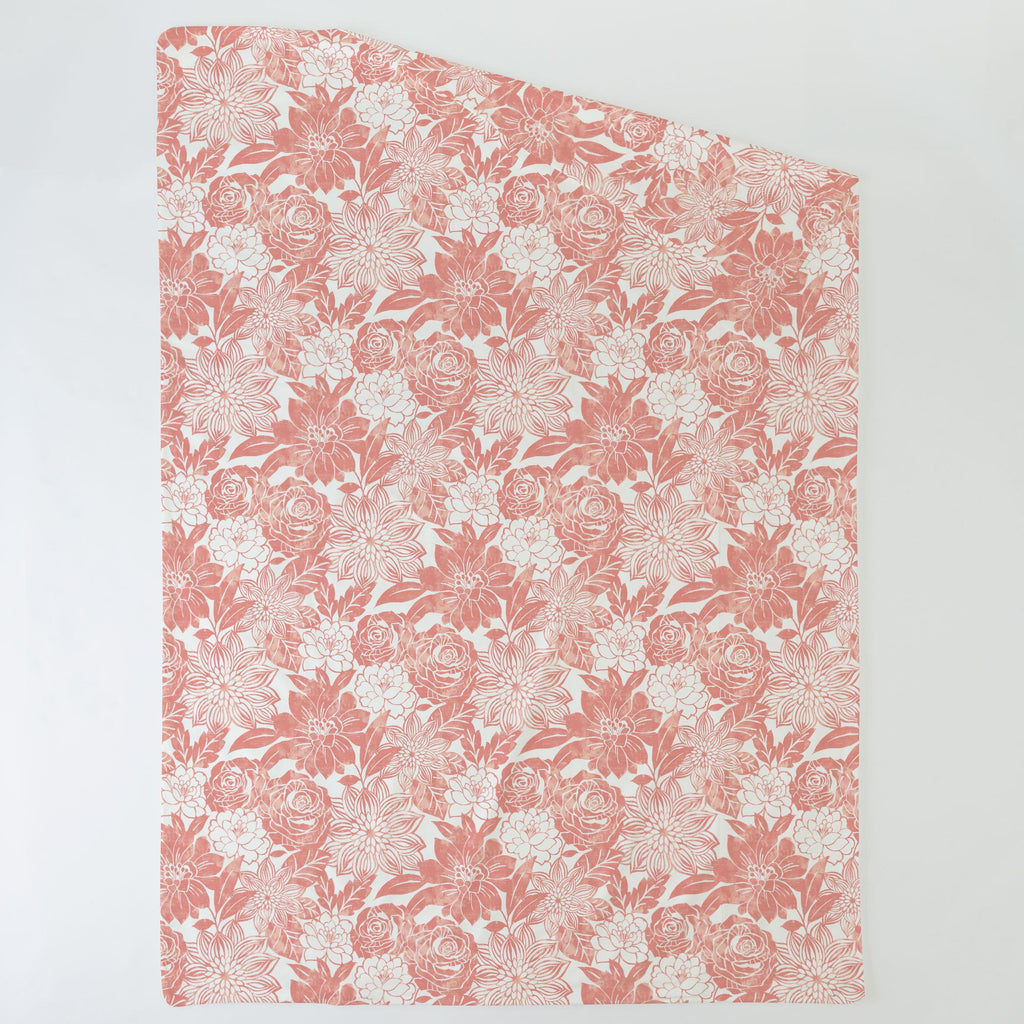 Product image for Light Coral Modern Blooms Duvet Cover