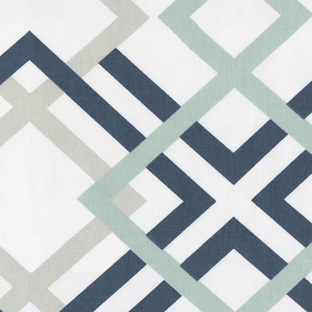 Product image for Navy and Gray Geometric Window Valance Tab-Top