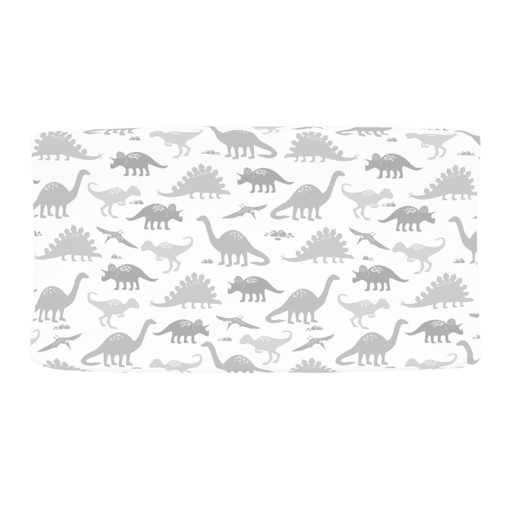 Product image for Gray Dinosaurs Changing Pad Cover