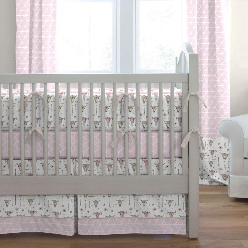 Product image for Pink Boho Crib Bumper