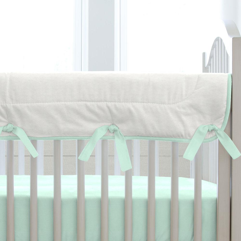 Product image for Solid Mint Crib Rail Cover