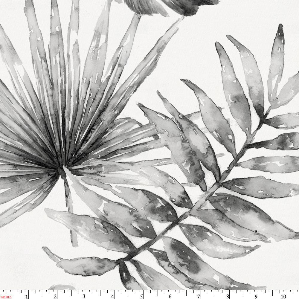 Product image for Gray Painted Tropical Fabric