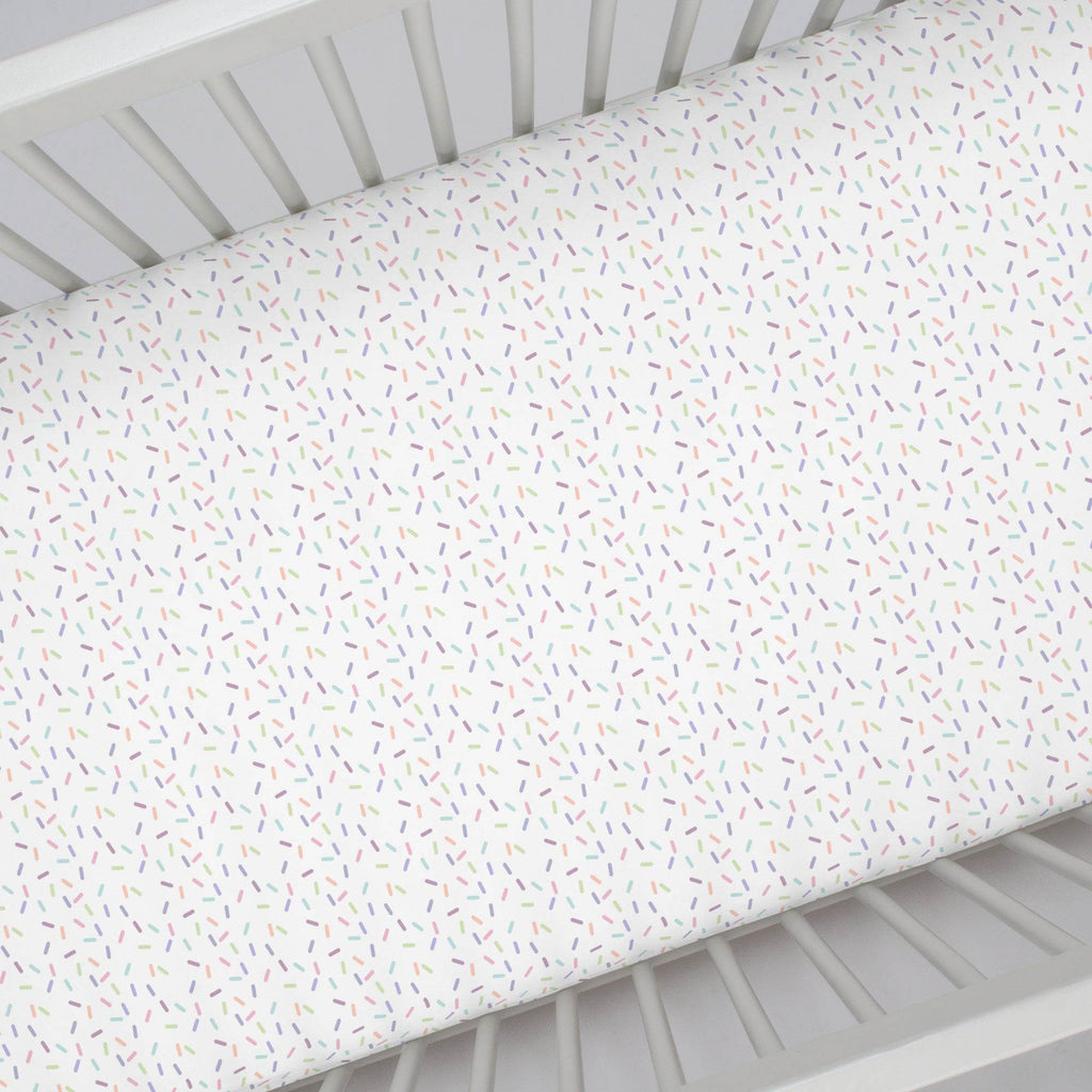 Product image for Pastel Sprinkles Crib Sheet