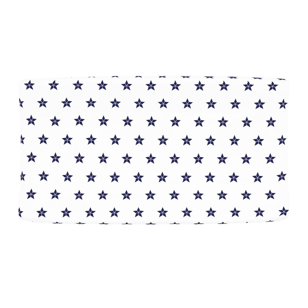Product image for Navy Mosaic Stars Changing Pad Cover