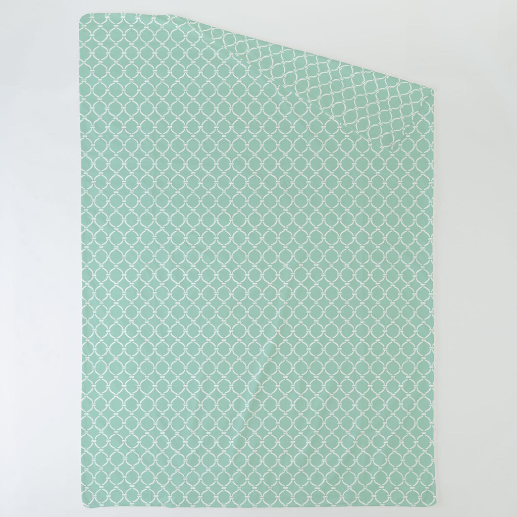 Product image for Mint and White Lattice Circles Duvet Cover