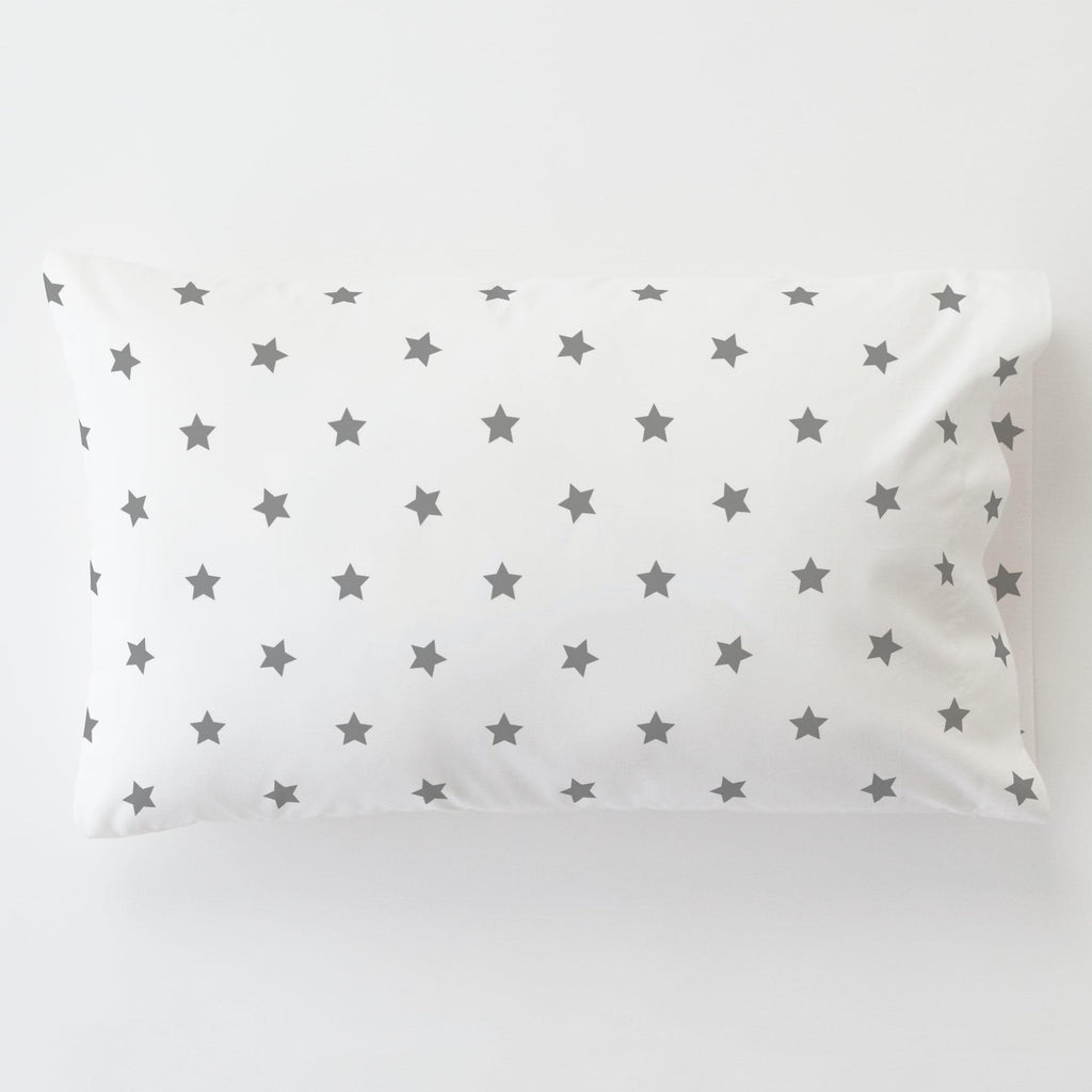 Product image for Cloud Gray Stars Toddler Pillow Case