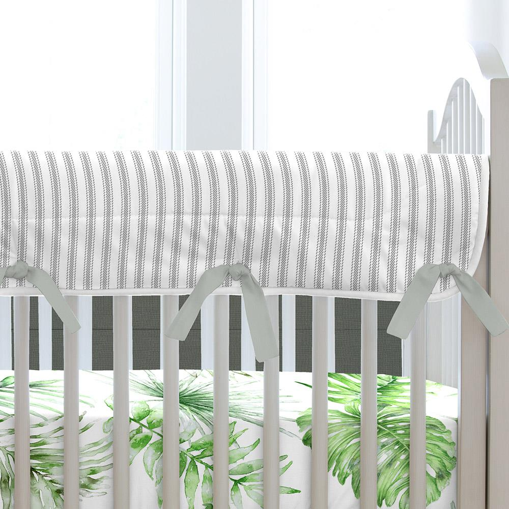 Product image for Green Painted Tropical Crib Rail Cover