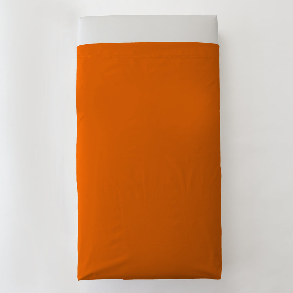 Product image for Solid Orange Toddler Sheet Top Flat